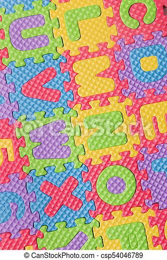 Foam puzzle letter uppercase - csp54046789