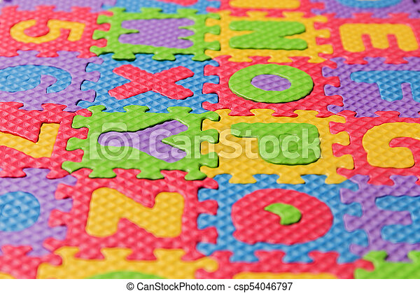 Foam puzzle letter uppercase - csp54046797