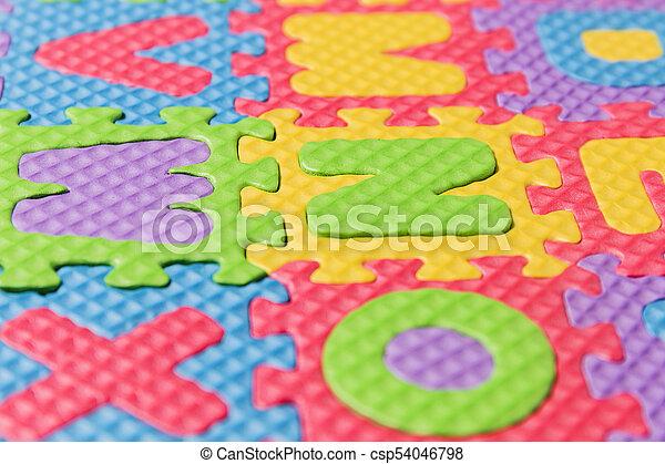 Foam puzzle letter uppercase - csp54046798