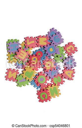 Foam puzzle letter uppercase - csp54046801