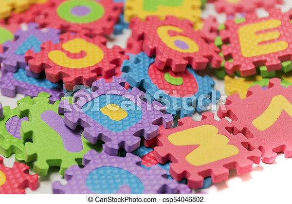 Foam puzzle letter uppercase - csp54046802