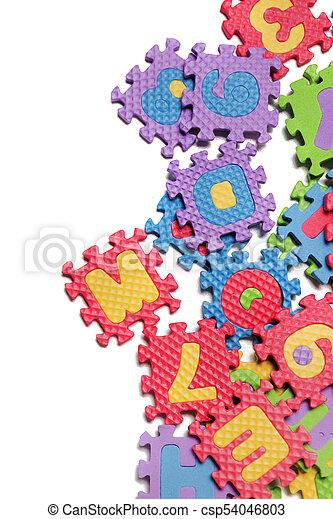 Foam puzzle letter uppercase - csp54046803