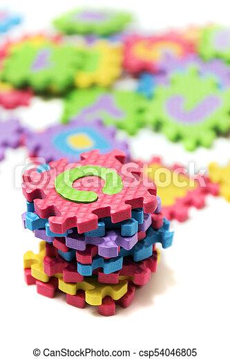 Foam puzzle letter uppercase - csp54046805