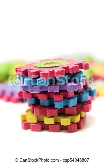 Foam puzzle letter uppercase - csp54046807