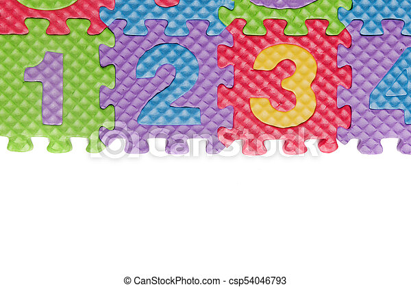 Foam puzzle numbers and letters - csp54046793