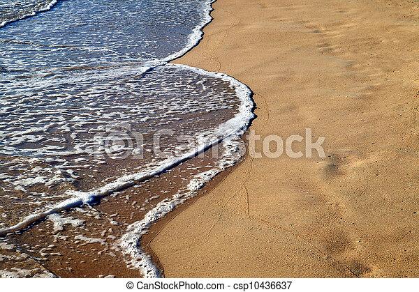 Foamy water on the beach - csp10436637