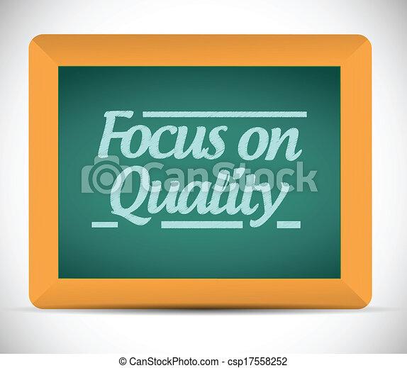 foco, ilustração, qualidade - csp17558252