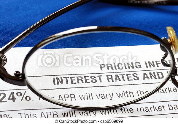 Concéntrate en la tasa de interés - csp6569899