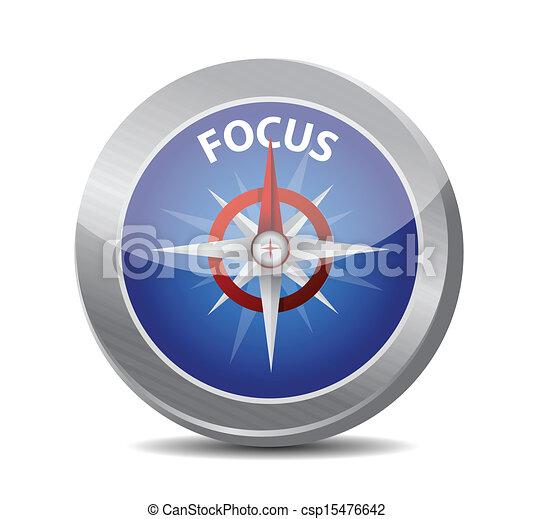 focus compass guide illustration design - csp15476642