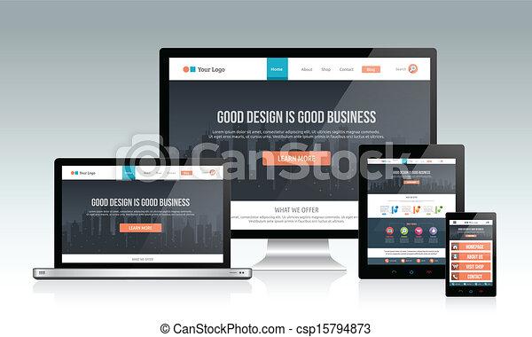 fogékony, website, tervezés - csp15794873