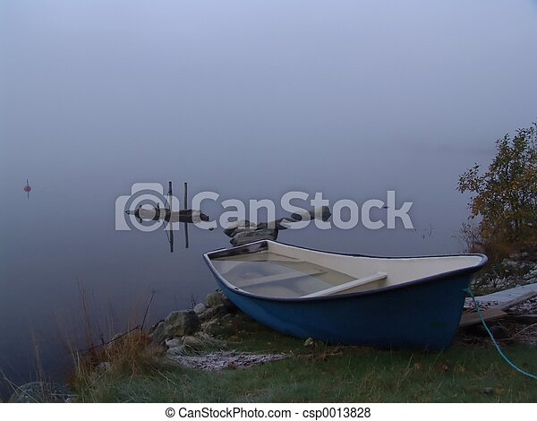 Fog and boat - csp0013828