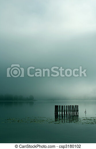 Fog on lake - csp3180102
