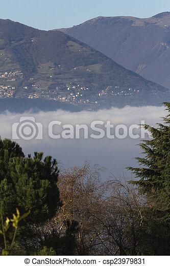 fog on the lake - csp23979831
