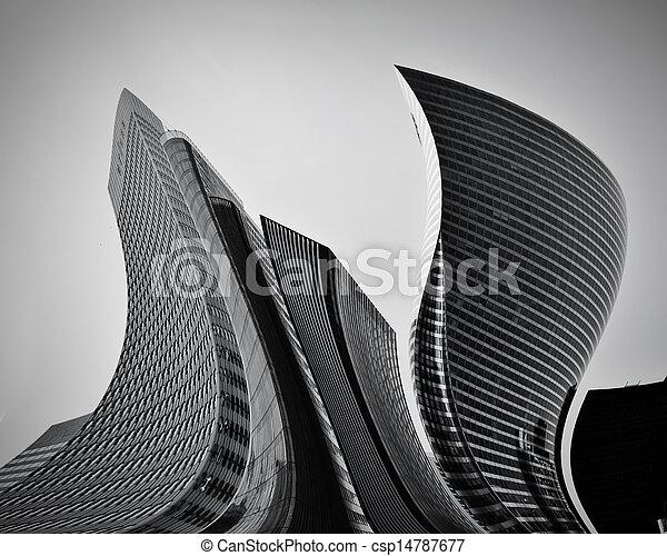 fogalmi, elvont, felhőkarcoló, ügy, építészet - csp14787677