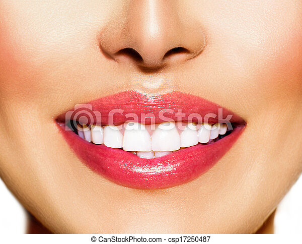 fogalom, egészséges, fogászati, whitening., fog, smile., törődik - csp17250487