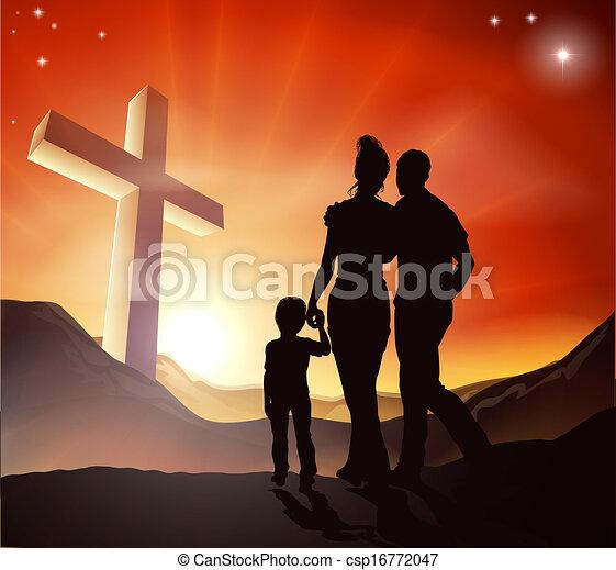 fogalom, keresztény, család - csp16772047