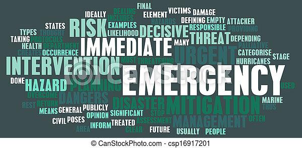 fogalom, szükséghelyzet - csp16917201