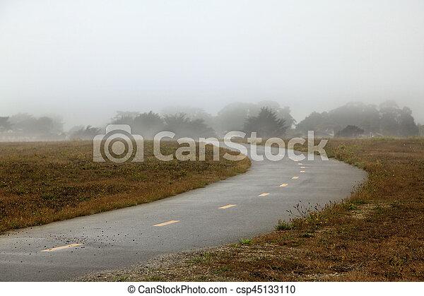 Foggy morning in California - csp45133110