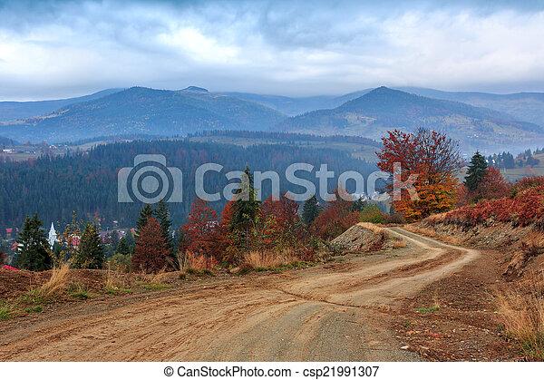 Foggy morning in Transylvania - csp21991307