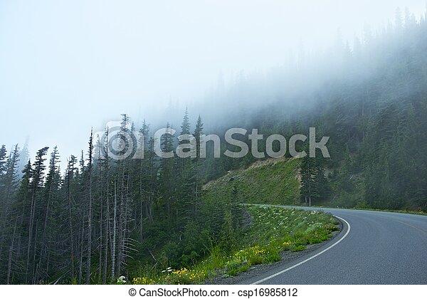 Foggy Mountain Road - csp16985812
