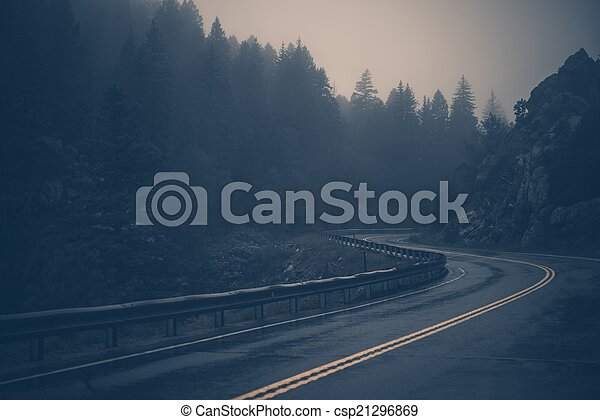 Foggy Mountain Road - csp21296869