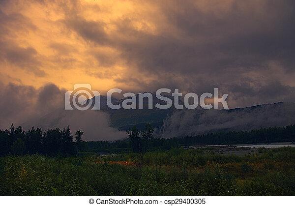 Foggy Mountain Sunrise - csp29400305