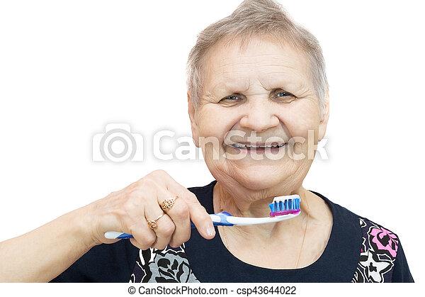 fogkefe, nő - csp43644022