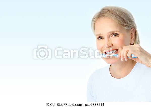 fogkefe, nő - csp5333214