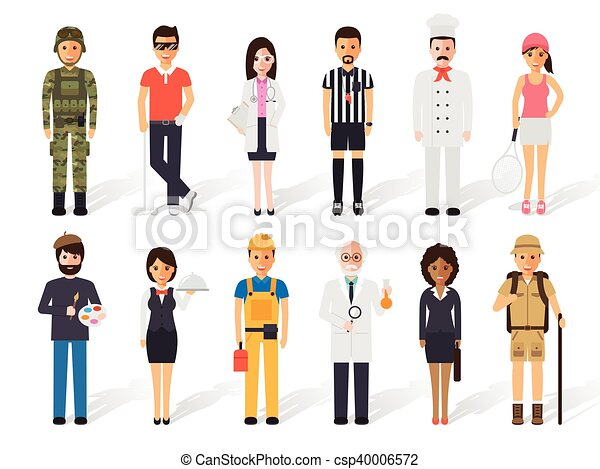 foglalkozás, szellemi foglalkozás, emberek - csp40006572