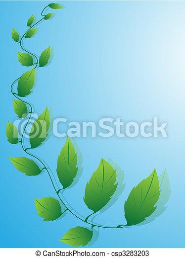 Fogli Azzurro Sfondo Verde