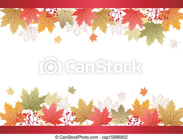 foglie, acero, fondo, autunno - csp15686902