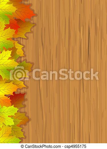 foglie, cadere, colorato - csp4955175