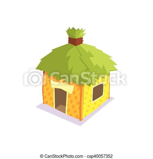 Foglie tetto elemento capanna verde giungla for Piani casa tetto a capanna