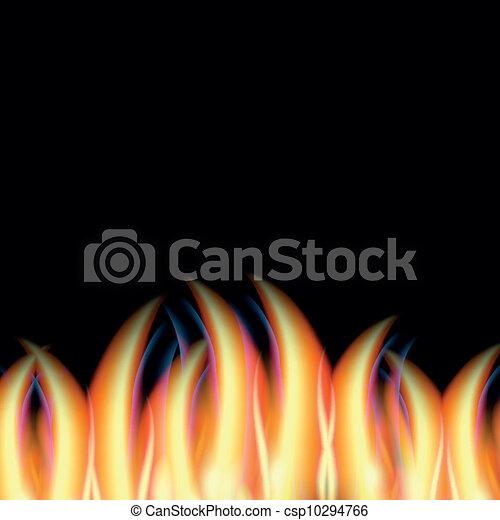 fogo, abstratos, vetorial - csp10294766