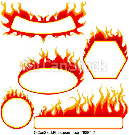 fogo, bandeiras - csp17909717