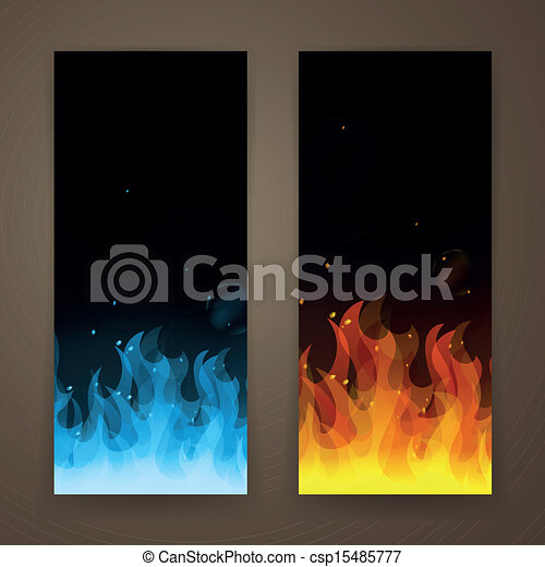 fogo, bandeiras, vetorial - csp15485777