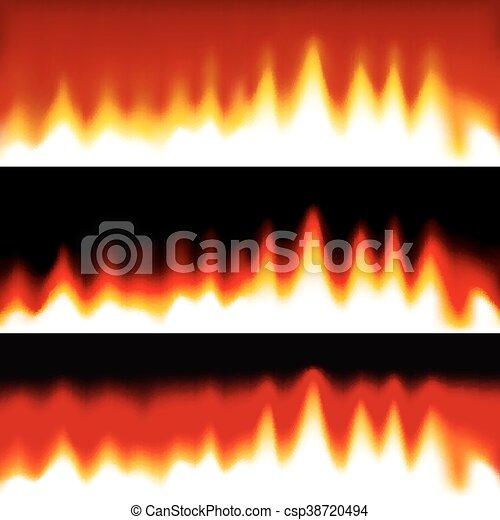 fogo, banners., abstratos - csp38720494