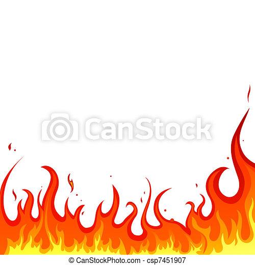 fogo, -, chamas - csp7451907