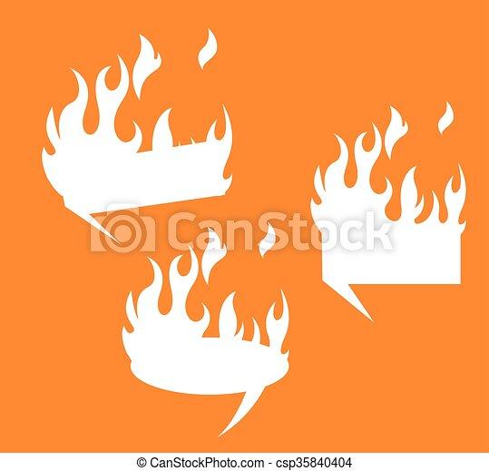 fogo, formas, bandeiras, vetorial, jogo - csp35840404