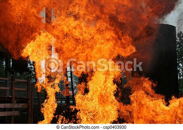 fogo, sabotagem - csp0403930