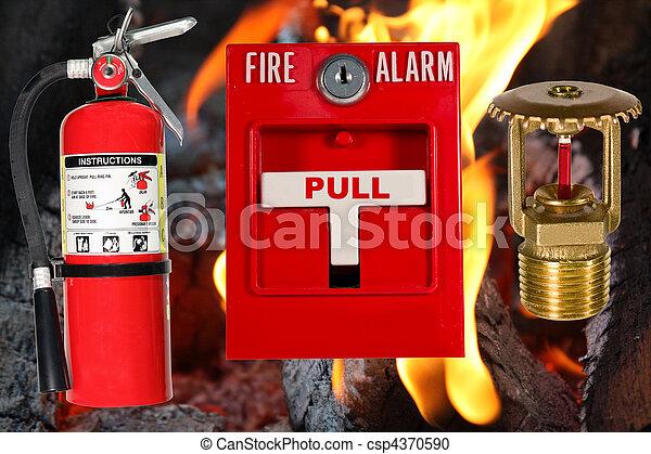 fogo, sobre, proteção, chama, fundo - csp4370590