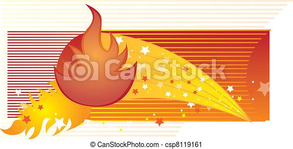 fogo, vetorial - csp8119161
