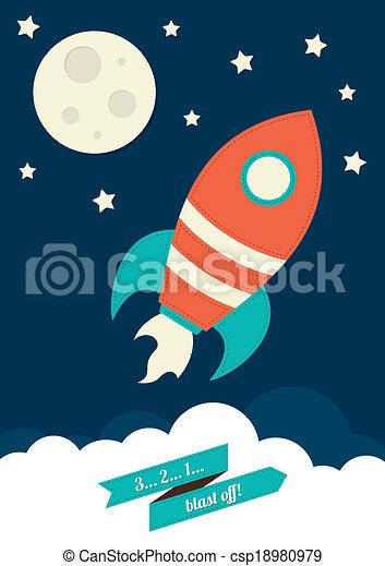 foguete, espaço - csp18980979