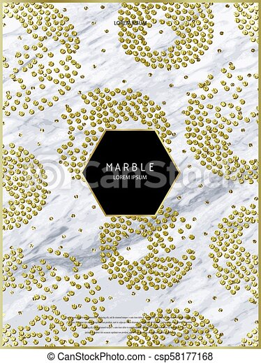 Foil Vector Background Marble Texture Trendy Template For New Year Party Wedding Birthday Web Flyers Invitation Card Bronze Design