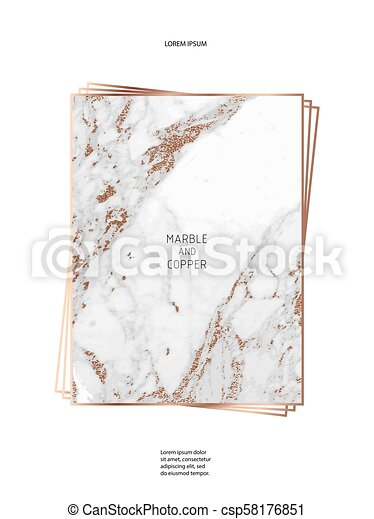 foil vector background marble texture trendy template for new year party wedding birthday web