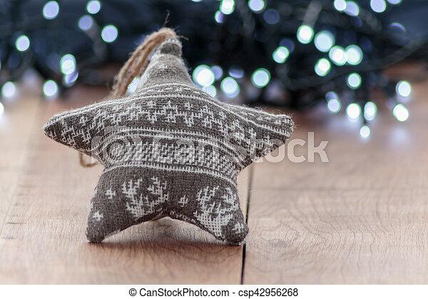 fokus, dekoration, hintergrund, wolle, weihnachten, heraus - csp42956268