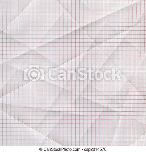 folded and creased graph paper - csp2014570
