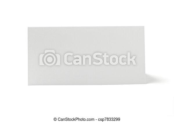 folded card note leaflet - csp7833299