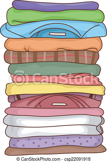 Folded Clothes - csp22091918
