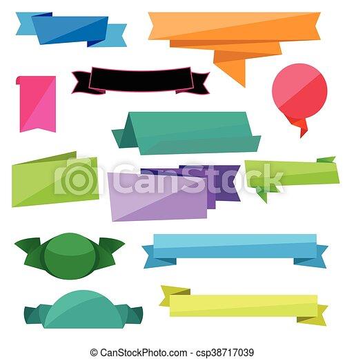 folded ribbon vectors vectors search clip art illustration rh canstockphoto ca ribbon vector art ribbon vector clip art